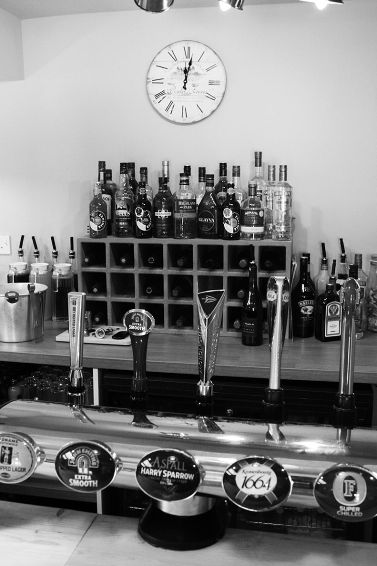 Our fully stocked bar.