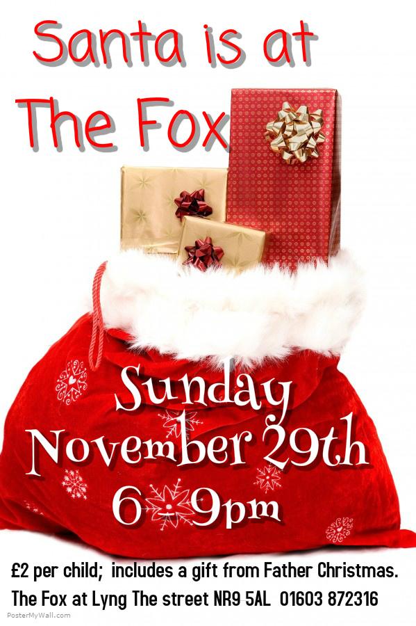 Santa at The Fox.