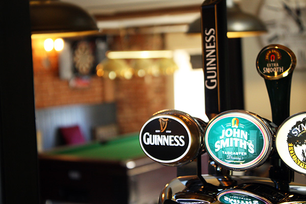 Guinness on tap.